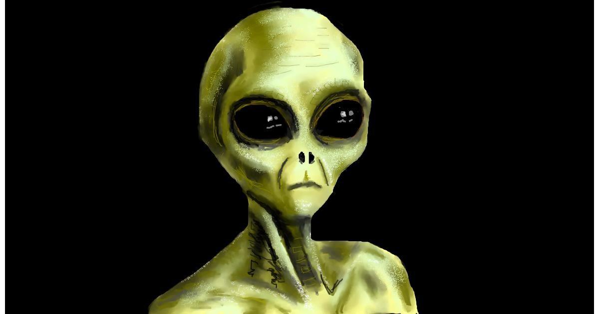 Alien drawing by Humo de copal