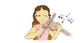 Violin drawing by coconut