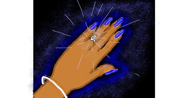 Diamond drawing by Cherri