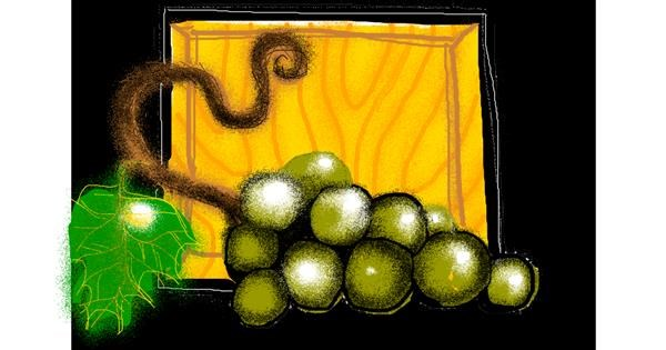 Grapes drawing by Totti