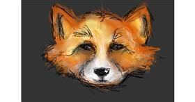 Fox drawing by Paranoia