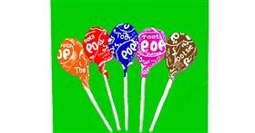Lollipop drawing by GJP