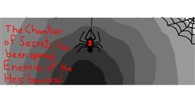 Spider drawing by Jackie