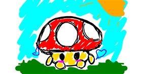 Drawing of Mushroom by That One Llama
