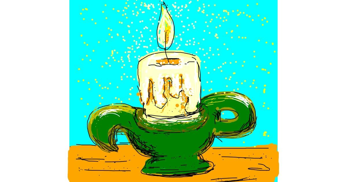 Candle drawing by Melocotón