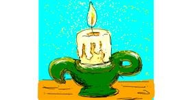 Drawing of Candle by Melocotón