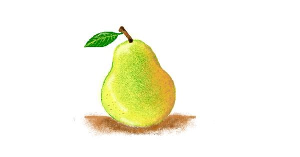 Pear drawing by hahah
