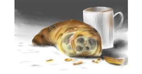 Drawing of Croissant by Wizard