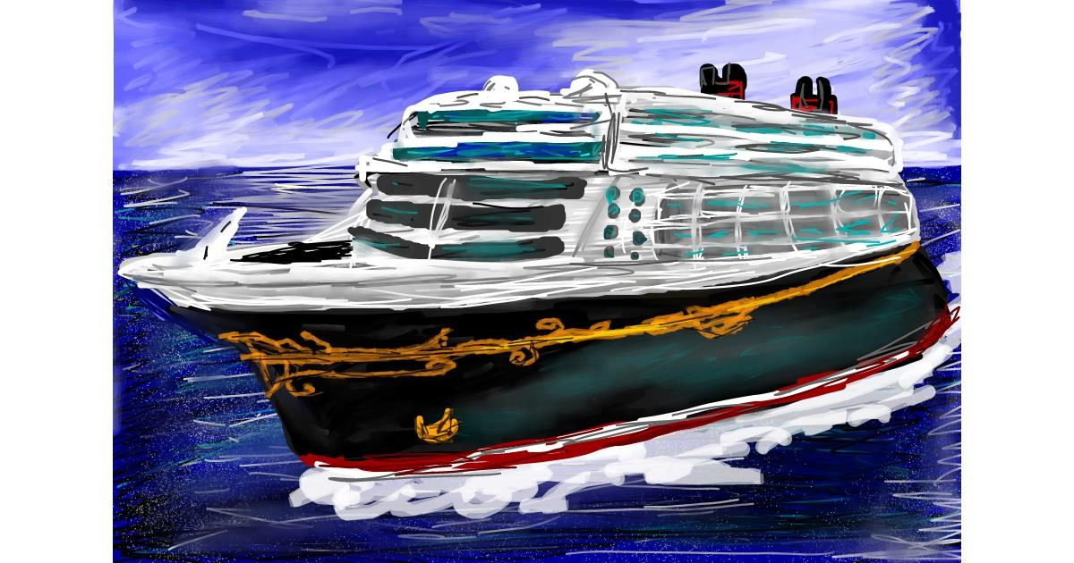 Boat drawing by Soaring Sunshine