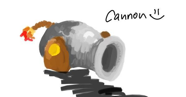 Cannon drawing by blah