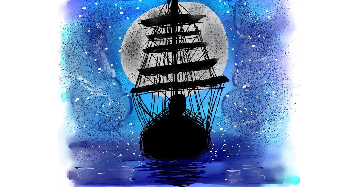 Boat drawing by Muskan