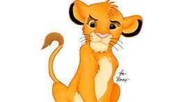 Drawing of Simba (Lion King) by Holy Kirbo