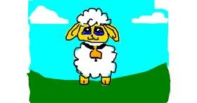 Sheep drawing by Anonymous