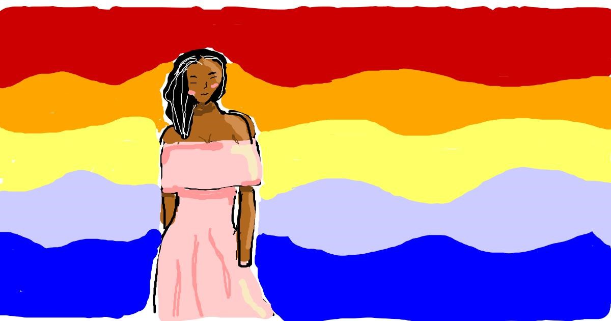 Dress drawing by Lola