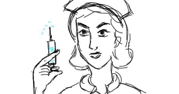 Nurse drawing by Vicki