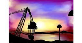 Crane (machine) drawing by 🌸🌺🌹