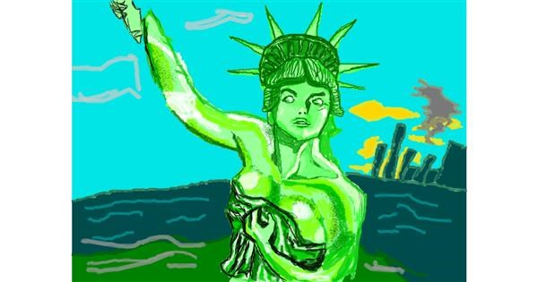 Statue of Liberty drawing by 𝐓𝐎𝐏𝑅𝑂𝐴𝐶𝐻™