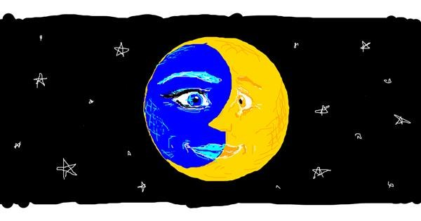 Moon drawing by Edgie