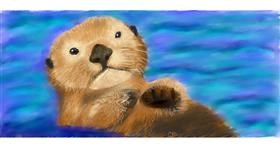 Drawing of Otter by Sara