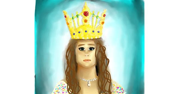Crown drawing by BYalg