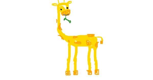 Giraffe drawing by toxicteddybear
