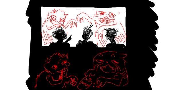 Cinema drawing by Radman