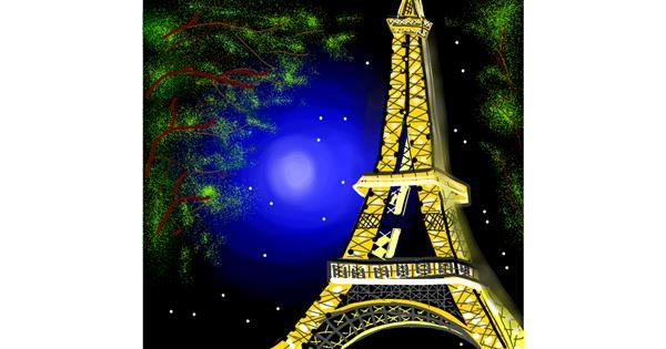 Eiffel Tower drawing by Namie