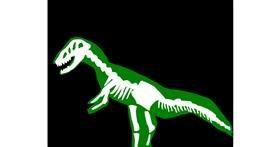 Dinosaur drawing by MaRi