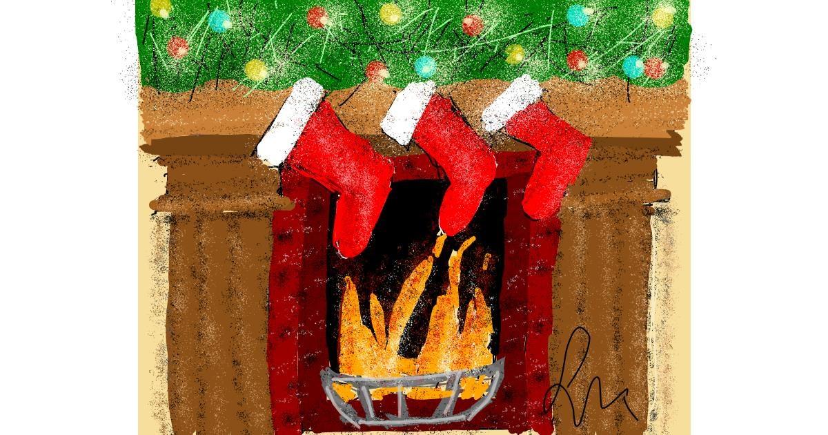 Fireplace drawing by Nonuvyrbiznis