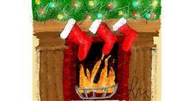 Drawing of Fireplace by Nonuvyrbiznis