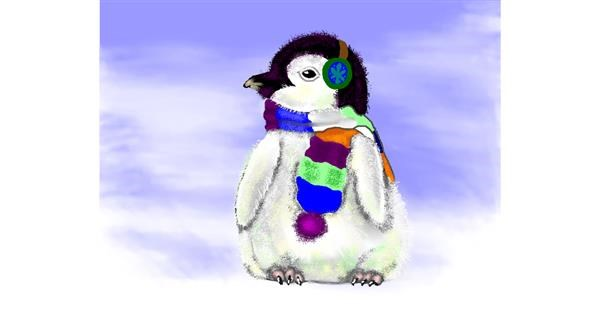 Penguin drawing by Cec