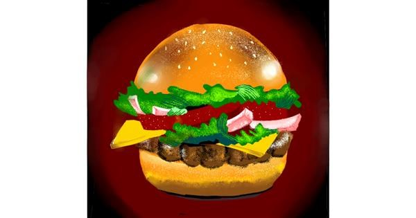 Burger drawing by Namie