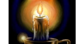 Drawing of Candle by Wizard