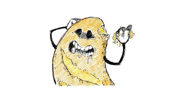 Bread drawing by Faldenn