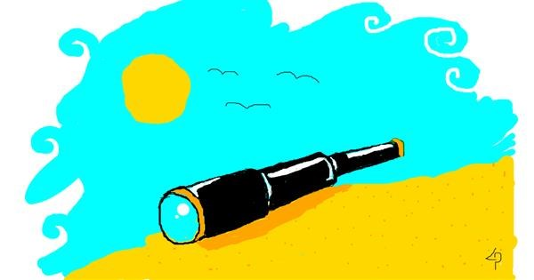 Telescope drawing by fass