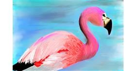 Flamingo drawing by Rak