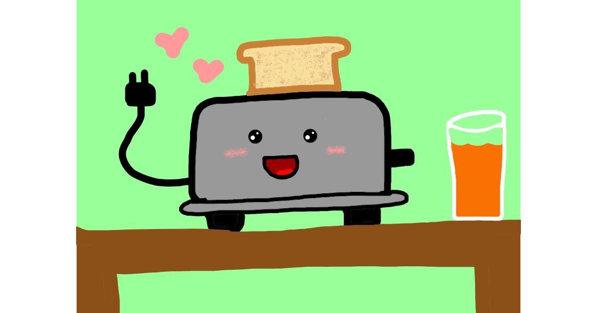 Toaster drawing by Mackanilla