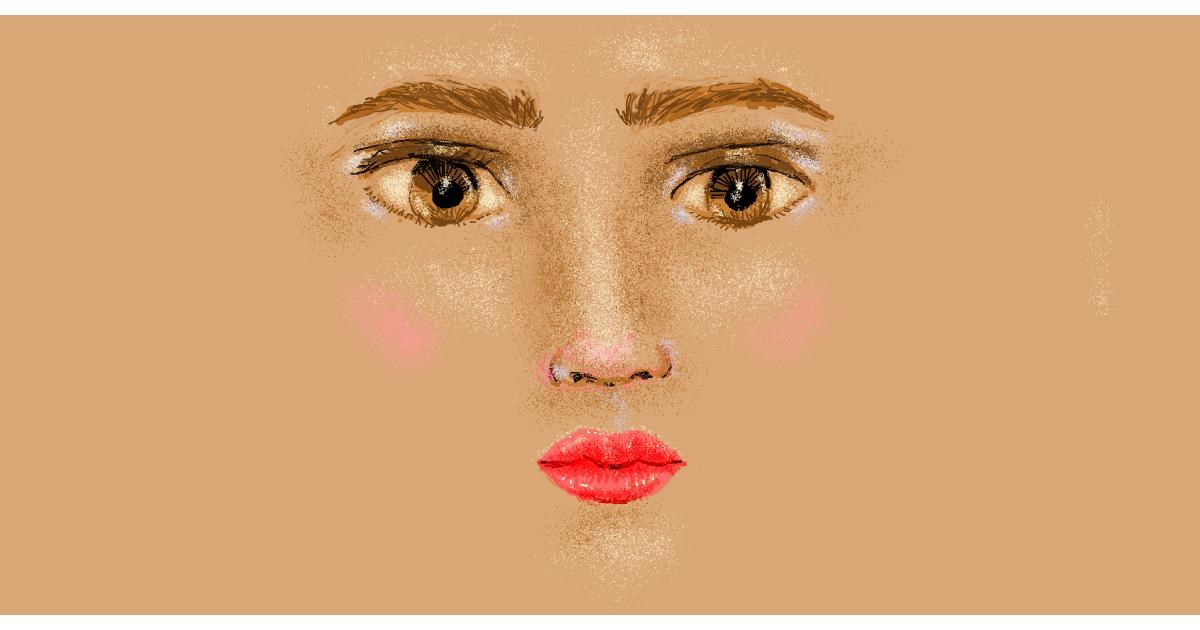 Face drawing by Helena