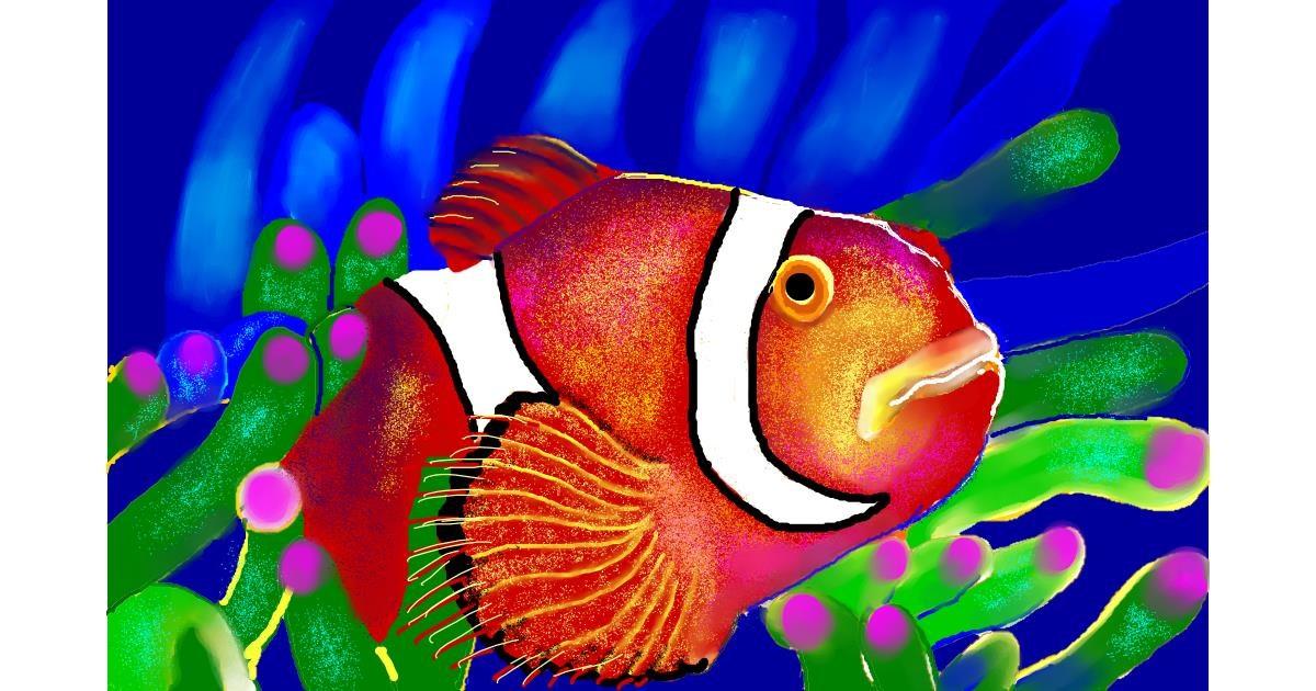 Clownfish drawing by GJP