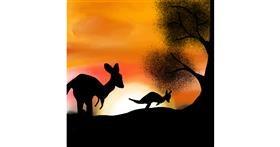 Kangaroo drawing by Mithi