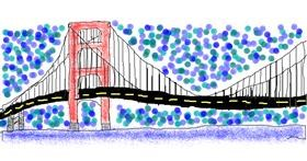 Bridge drawing by CoolHeart