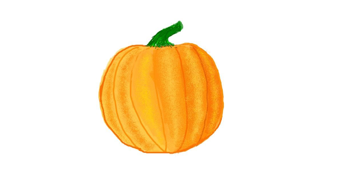 Pumpkin drawing by coconut