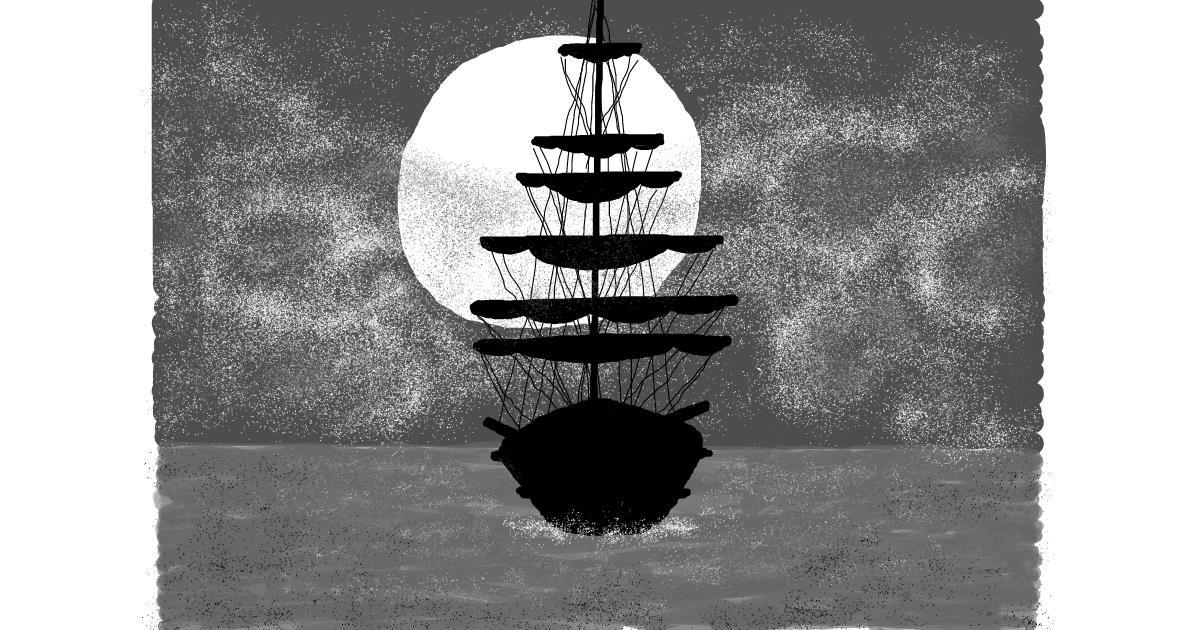 Sailboat drawing by AlexTib
