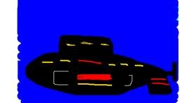 Submarine drawing by Marina🥃