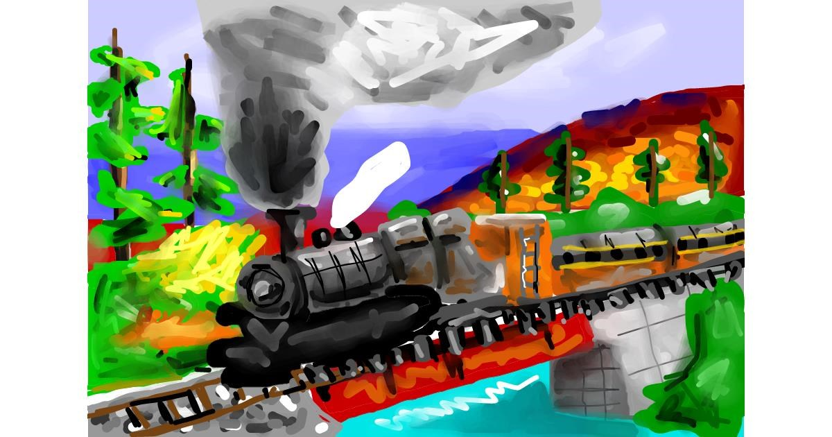 Train drawing by Soaring Sunshine