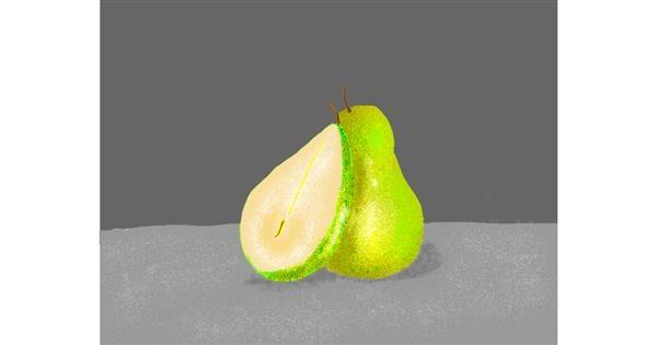 Pear drawing by Darta