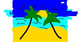 Beach drawing by FrankOceanLover