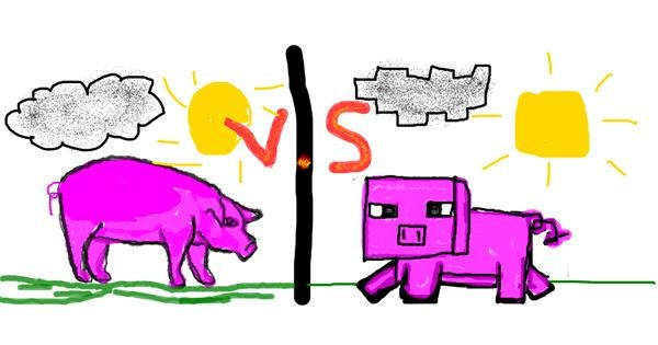 Pig drawing by Shaterstar