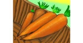 Carrot drawing by Zi