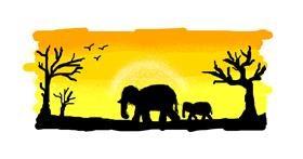 Elephant drawing by ARTnas aira